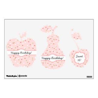 Confetti Cake • Pink Buttercream Frosting Wall Sticker