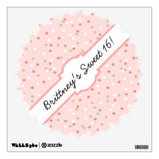 Confetti Cake • Pink Buttercream Frosting Wall Decals
