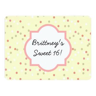Confetti Cake  • Yellow Buttercream Frosting 6.5x8.75 Paper Invitation Card