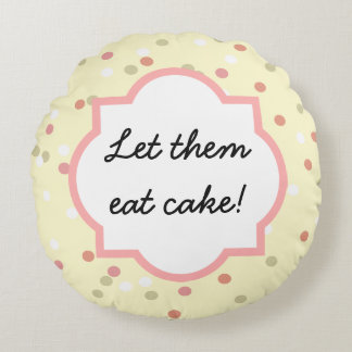 Confetti Cake  • Yellow Buttercream Frosting Round Pillow
