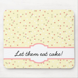 Confetti Cake  • Yellow Buttercream Frosting Mouse Pad