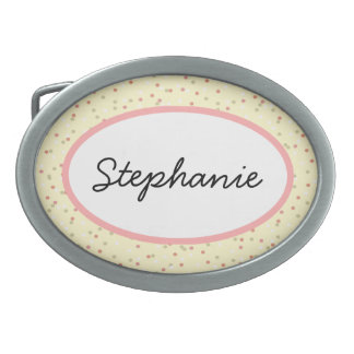Confetti Cake  • Yellow Buttercream Frosting Oval Belt Buckle