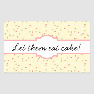 Confetti Cake  • Yellow Buttercream Frosting Rectangular Sticker