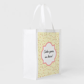 Confetti Cake  • Yellow Buttercream Frosting Reusable Grocery Bags
