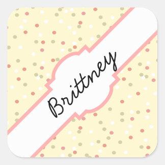 Confetti Cake  • Yellow Buttercream Frosting Square Sticker
