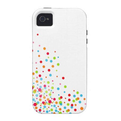 Confetti Celebration designer multicolor iPhone 4/4S Covers