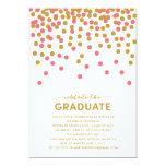"""Confetti Celebration Graduation Invitation 5"""" X 7"""" Invitation Card"""