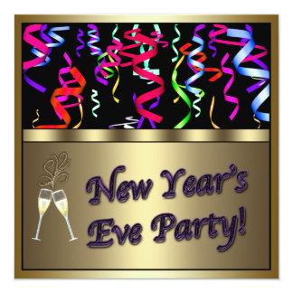 Confetti Champagne New Year's Eve Party Invitation