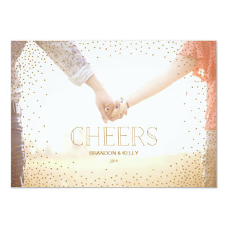 Confetti CHEERS Christmas Holiday Card
