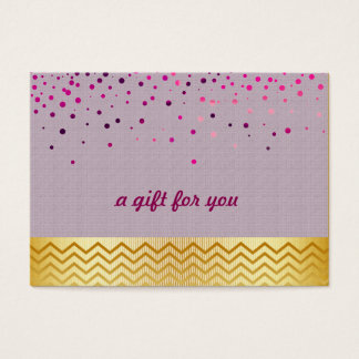 Confetti Chevron Salon and Spa Gift Certificate