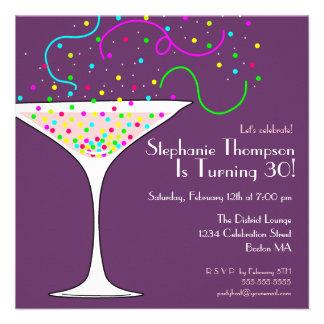 Confetti Cocktail Birthday Party Invitation
