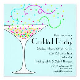 Confetti Cocktail Party Invitation