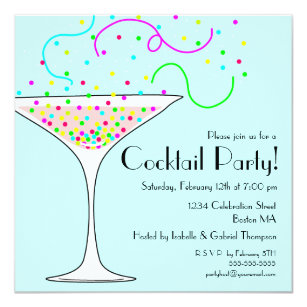 Cocktail Party Invitations Zazzle