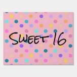 Confetti colors polka dots yard sign