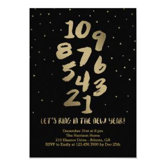 Confetti Countdown Editable Color New Year Party 5x7 Paper Invitation Card