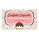 Confetti Cupcake & Bundt Cake Business Cards