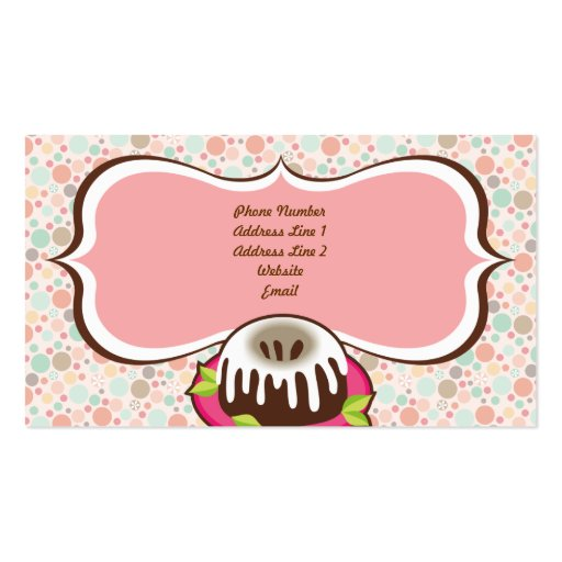 Confetti Cupcake & Bundt Cake Business Cards (back side)