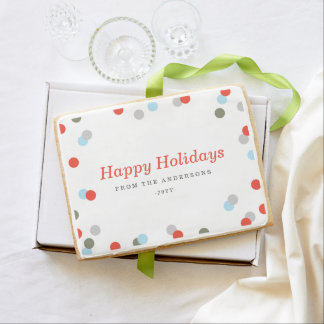 Confetti Dot Holiday Shortbread Cookie