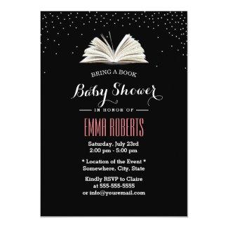 Confetti Dots Bring a Book Baby Shower Invitations
