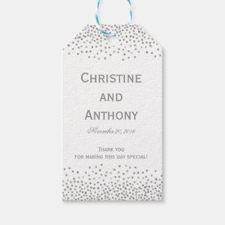 Confetti Dots Elegant Wedding Favor Tags