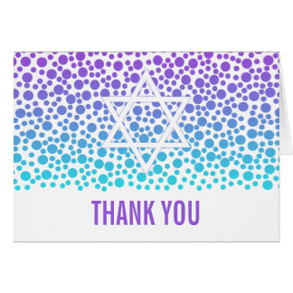 Confetti Dots Purple Teal Bat Mitzvah Thank You