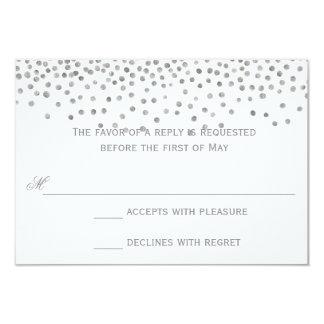 Confetti Dots Silver Wedding Response Cards
