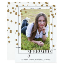 confetti dreams graduation announcement