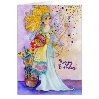 Confetti Fairy Birthday Card