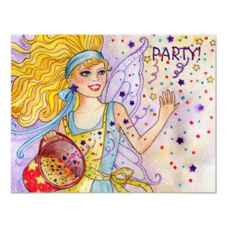 Confetti Fairy Party invitation