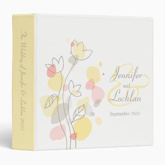 Confetti flower coral yellow wedding folder