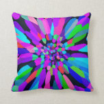 Confetti Flower Purple Pillow