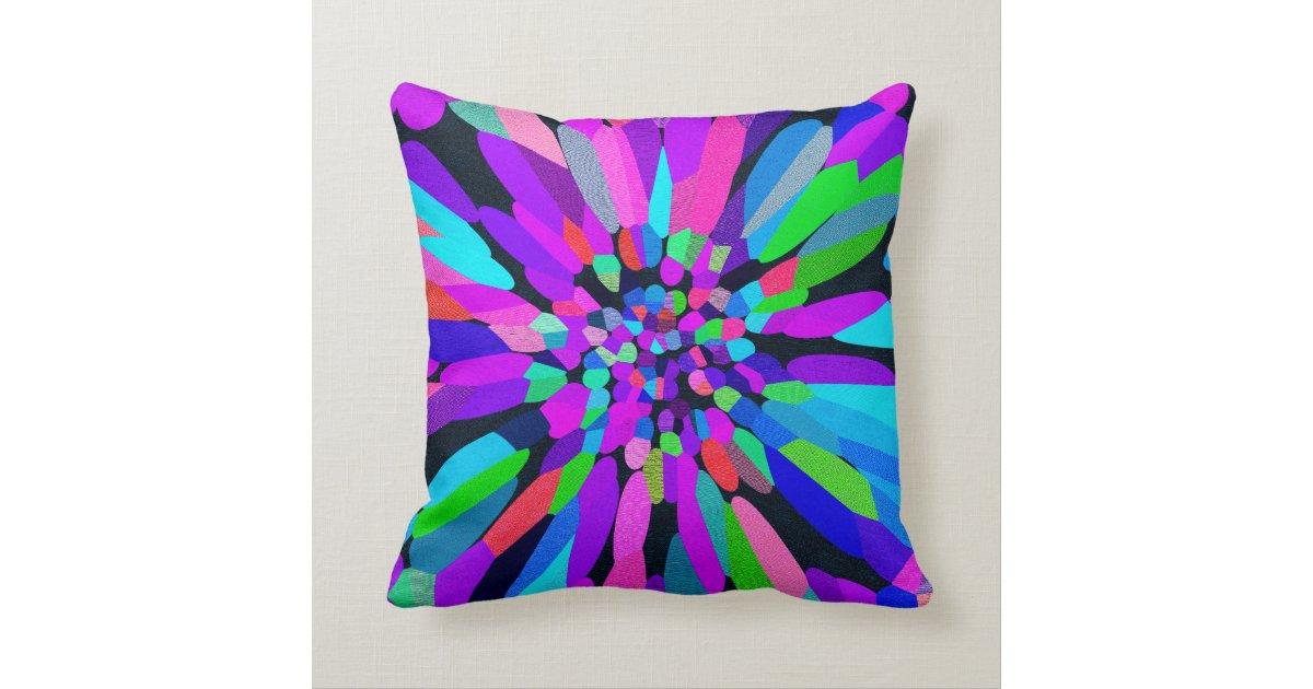 Lavender Flower Throw Pillow : Confetti Flower Purple Throw Pillow Zazzle