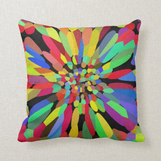 Confetti Flower Throw Pillow