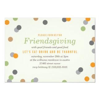 Confetti Friendsgiving Party Card