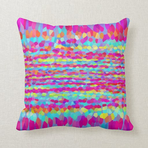 Decorative Pillows With Fringe : Confetti Fringe Throw Pillow Zazzle