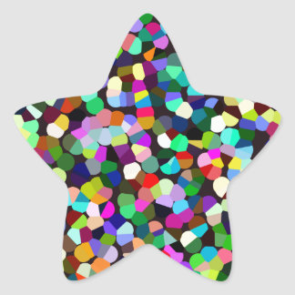 Confetti Fun Star Sticker