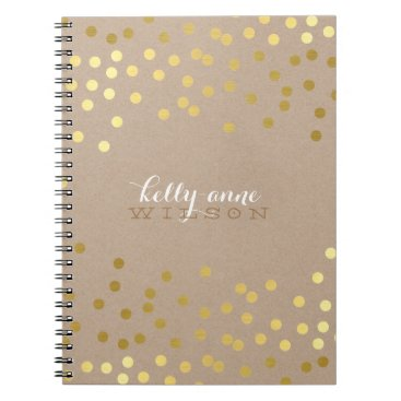 simplysweetPAPERIE CONFETTI GLAMOROUS cute spot gold crafty kraft Notebook