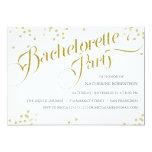 Confetti Glitter Bachelorette Party Invite, gold