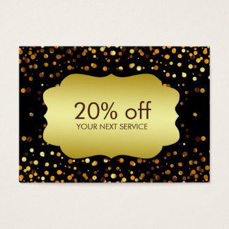 Confetti Gold Coupon Card Discount Gift