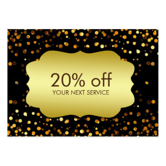 Confetti Gold Coupon Card Discount Gift Large Business Cards (Pack Of 100)