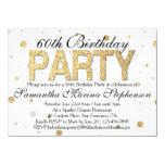 Confetti Gold Sparkle 60th Birthday Party Card