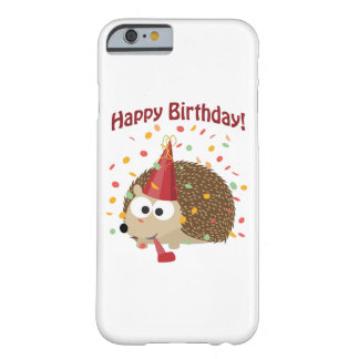 Confetti Happy Birthday Hedgehog Barely There iPhone 6 Case