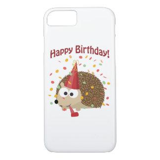 Confetti Happy Birthday Hedgehog iPhone 8/7 Case