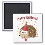 Confetti Happy Birthday Hedgehog Magnet