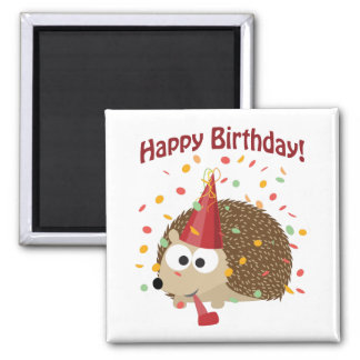 Confetti Happy Birthday Hedgehog Magnet
