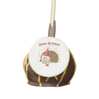 Confetti Happy Birthday Hedgehog Cake Pops