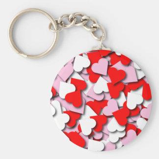 Confetti Hearts Keychain