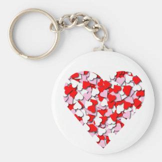 Confetti Hearts Keychain #2