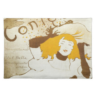 Confetti Henri de Toulouse Lautrec illustration Cloth Place Mat