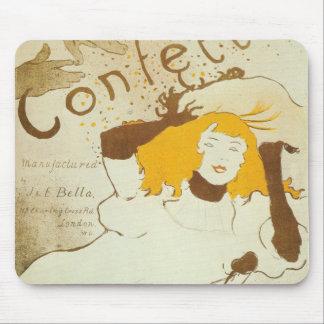 Confetti Henri de Toulouse Lautrec illustration Mouse Pad